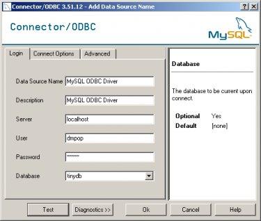 Конфигурация соединения ODBC в Windows
